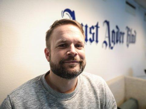 Trond Nøstvold Tou, ansvarlig redaktør i Aust-Agder Blad.