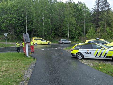 Klokken 13:54 ankom politiet på stedet.