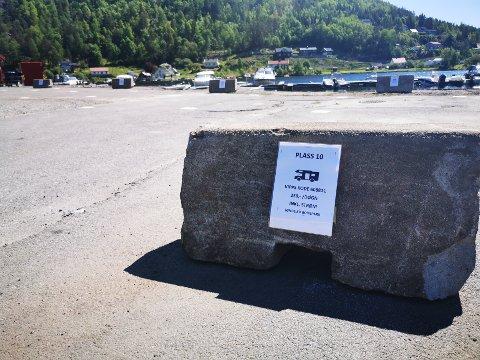 10 plasser står klare på Søndeled bobilparkering.