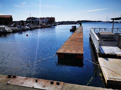 Fredag formiddag kom den nye brygga på plass ved Buene. Der skal det bli mulig for turister å forhåndsbooke båtplasser allerede i sommer.