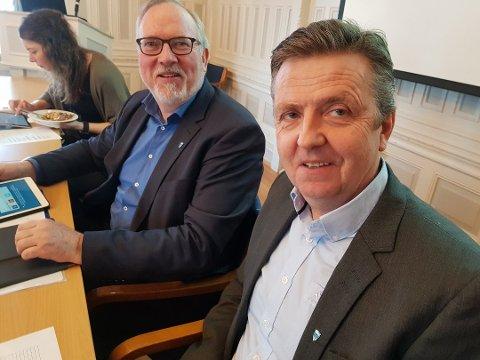 Per Kristian Lunden og Trond Aslaksen sier Risørs plassering er gledelig, men at man de ikke vektlegger rapporten for mye.