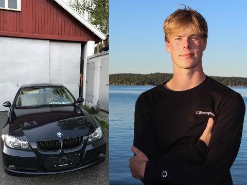 Trygve Berger Ausland (18) oppdaget at den nye bilen hans hadde blitt stjålet samme dag han fikk lappen. Heldigvis dukket den i går opp igjen, med små skader.