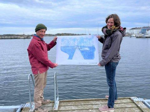 Alexander Willeke og Hanne Nøvik i Risør havbaderforening har lenge vært på jakt etter den perfekte badsstuen. Nå har de endelig landet på et ferdig design etter mye frem og tilbake.
