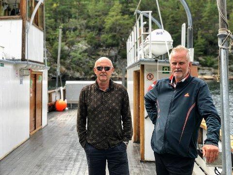 Mannskapet på MF Øisang består av Rune Gjernes og Kjell Kristiansen.