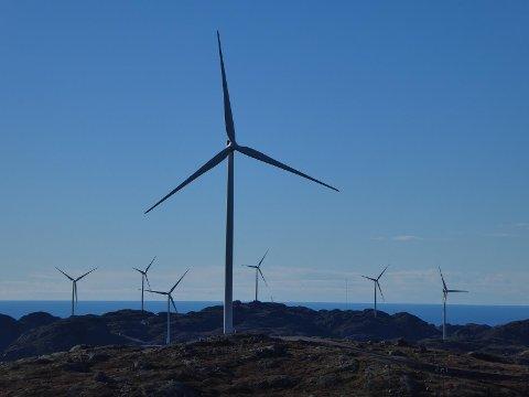 Tellenes vindkraftverk i Lund og sokndal er en av de store vindkraftverkene i Norge