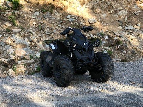 ATV: Firehjulingen har noen skrammer men ser ikke mye skadet ut etter velten.