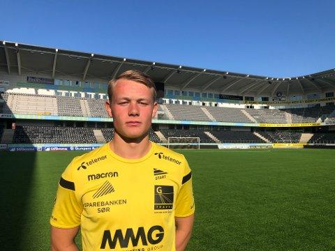 Kristian Strømland Lien på Sparebanken Sør Arena. Foto: IK Start