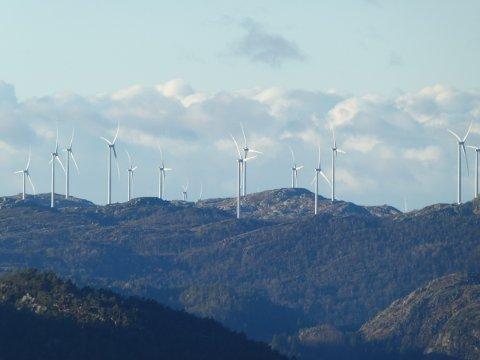 TELLENES: Tellenes vindpark ligger i Lund og Sokndal.