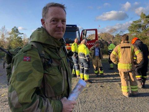 HV: Heimevernet har øvelse i området og bistår. Kenneth Hagen, sjefssersjant (bilde).