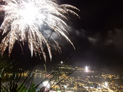 GOD SIKT: Slik var utsikten fra Rauli i Flekkefjord for noen år siden. Mye tyder på at det blir likedan i år.