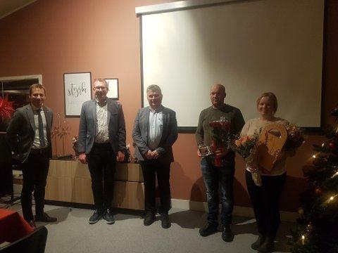 PREMIERT: Fra venstre Jonny Liland, Bjørn Kåre Grude, Tor-Arne Liland, Martin Lindeland og Marte Lindeland. Foto: Privat