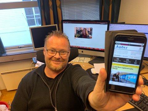 NY APP: - Agders nye app gir deg muligheten til å personalisere nyhetsstrømmen til deg selv, forklarer redaksjonssjef Erik Thime i Agder.