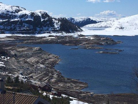 NEDTAPPING: Nedtapping av Gravatn og Valevatn er ekstra stor i år på grunn av store mengder snø i fjellet og utbedring av noen av Sira-Kvina sine dammer lenger ned i kraft-vannveien.