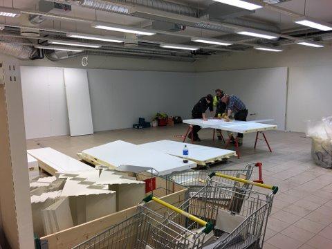 BYGGER OM: GP-butikken blir bygget om innvendig.