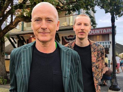 NY DUO: Sammen med multiinstrumentalist Thomas Gallantin skal Morten Abel (til venstre) i sommer utforske duoformatet. Torsdag spiller han på Skåland gjestegård.