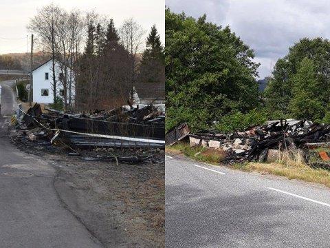 LITEN FORSKJELL: Bildet til venstre er tatt 1. nyttårsdag 2019. Bildet til høyre er fra i sommer.