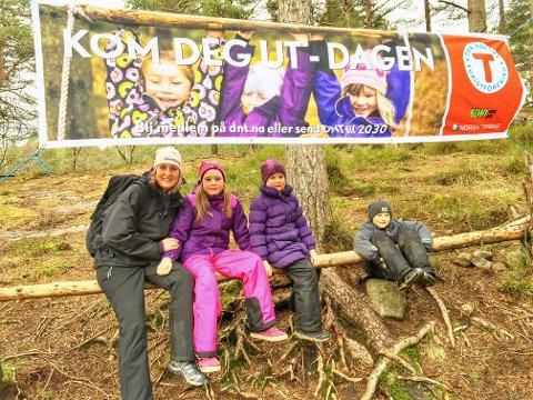 KOM DEG UT: Søndag er det klart for høstens Kom deg ut-dag. Her er Vivian Holm-Hansen med familie på tur på en tidligere KDU-dag.