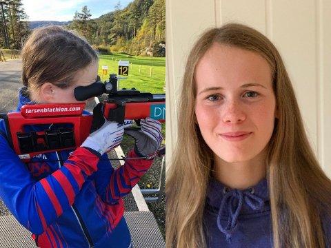 SKYTER BLINK: Skiskyttertalentet Lea Camilla Kjørmo Østrem har fått sansen for å skyte blink.