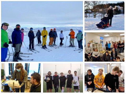 FELLESSKAP: På Lundheim folkehøgskole får elevene en så normal hverdag som det er mulig.