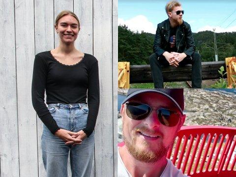 HÅPER PÅ BRA 2021: Sina Berrefjord, Jan Erik Hogstad (nederst) og Stian Nedrejord har alle troen på et bedre 2021.