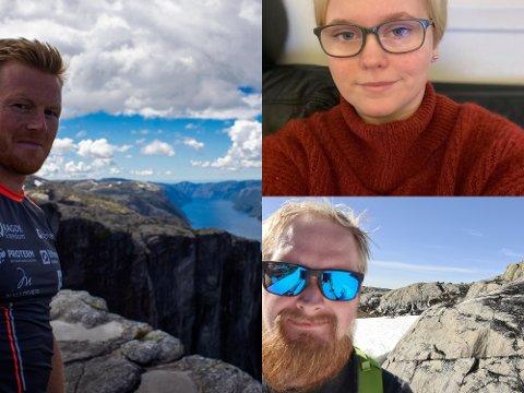 AKTIVITET SOM FRISTER: Joar Thele (t.v.), Lillian Reistad og Tom Nordstrøm har alle tanker om et aktivt 2021.
