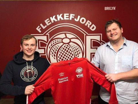 Asle Liland (til venstre) sammen med FFK-leder Sigurd Åtland.
