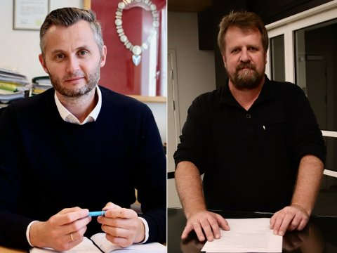 FØLGER MED: Både Kvinesdal-ordfører Per Sverre Kvinlaug (KrF) og Flekkefjord-ordfører Torbjørn Klungland (Frp) følger med på situasjonen i Lyngdal og Farsund.