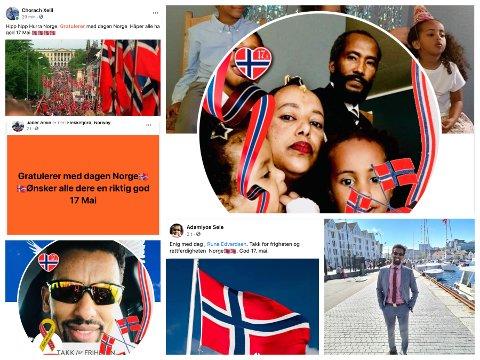 NORGE I RØDT, HVITT OG BLÅTT: Veldig mange som er kommet til Norge verdsetter friheten.