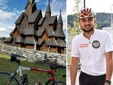 SYKLET LANGT: Ordfører Jonas Andersen Sayed (KrF) valgte å bruke elleve dager av sommerferien på sykkelsetet.