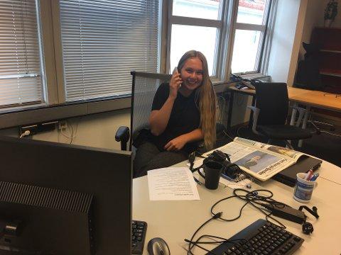 NY JOURNALIST: Fra denne uken er Karolina Ulfig på plass i redaksjonen i Agder i Flekkefjord.