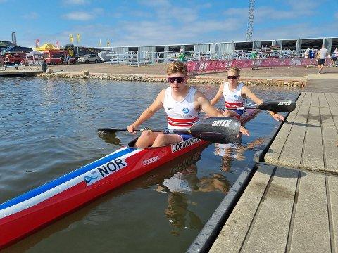 Nicolai Lønning og Ivar Flikka Buch fotografert før fredagens første løp i VM i Portugal.