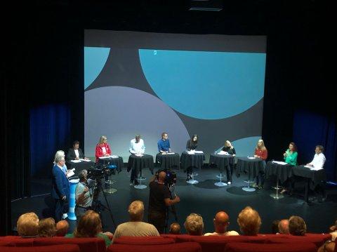 PANELDEBATTEN: Alle toppkandidatene i Vest-Agder krets var i forrige uke samlet til pandeldebatt i Spira, arrangert av Agder og NRK Sørlandet.
