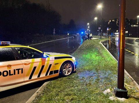 Det var i dette området ved Haugenstua at en 13-åring ble påkjørt av en bil som senere stakk fra stedet.