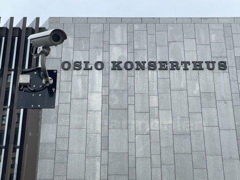 OVERVÅKING: Politiet har sikret overvåkingsvideo fra området ved Oslo konserthus, der en mann i 20-årene ble skutt i morgentimene lørdag.