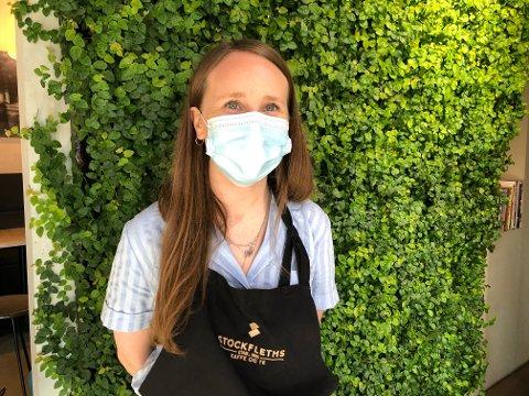 STENGT: For å være på den sikre siden bør kafétoalettene holdes stengt for kunder og andre, mener Ida Faanes Olsen, avdelingsleder i Stockfleths ved Schous plass.