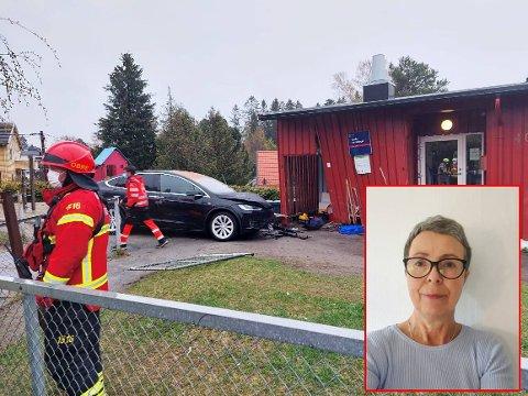 KOLLISJON: Seksjonssjef for barnehager i bydel Bjerke, Anne Karin Frivik, er glad for at ingen barn var i barnehagen da hendelsen skjedde.