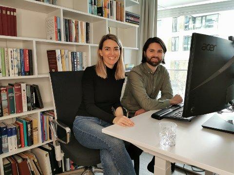 FRA SØT MUSIKK TIL EGEN VIRKSOMHET: Bjarne Husum Øverland og Ingeborg Berg Nilssen møttes på psykologstudiet i Tromsø. Nå driver de en digital psykologtjeneste i kampen for å redusere psykisk uhelse.