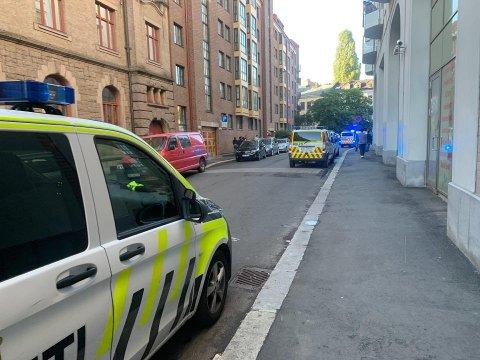 Politiet var til stede med minst ni politipatruljer.