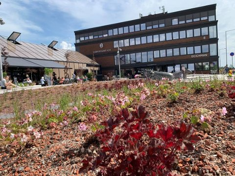 NYÅPNING: Røa torg blir tatt i mot av lokalmiljøet. Endelig er det et sted å møtes.