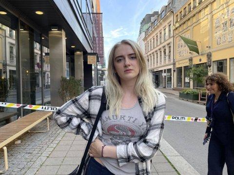 VITNE: Signe ble vitne til at personen fikk livredning etter å ha blitt skutt.