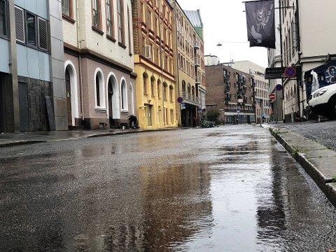 Det var en grå dag i Oslo sentrum tirsdag, men uværet ble ikke så voldsomt som man fryktet.