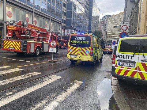 UTRYKNING: Alle nødetatene rykket ut til Oslo City fredag ettermiddag etter melding om brann.