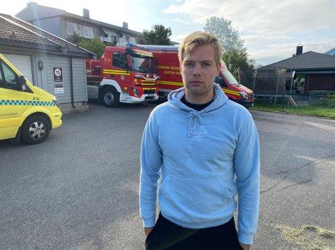 MISTET ALLE EIENDELER: Foreldrene til Tobias Kundsen mistet alt de eier i brannen på Stovner søndag morgen.