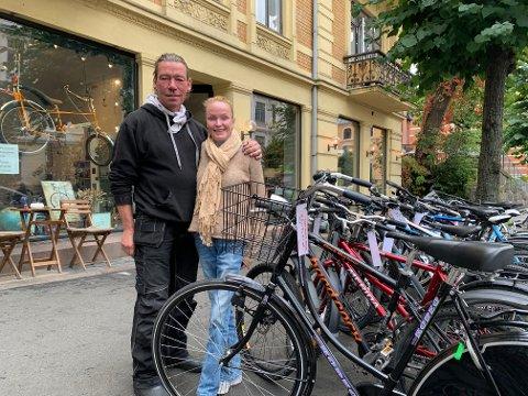 NY SJANSE: Brukte sykler ga ekteparet Tina Teigen (52) og Petur J. Petursson (54) en ny sjanse..