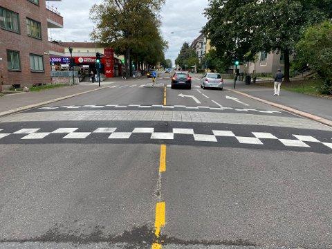 UBEHAGELIG: Ruter vil ikke ha denne fartshumpen. Den er ubehagelig for sjåfører og passasjerer og sliter på kjøretøyene. I tillegg blir det ujevn kjøring ved slike humper.