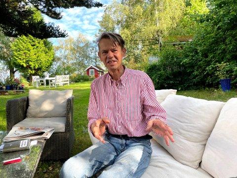 TAKKET NEI: Harald Wessel-Berg har valgt å ikke vaksinere seg mot koronaviruset. Han mener sjansen for å bli smittet er forsvinnende liten.