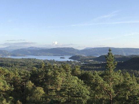 Utsiktspunkt: Tar du ein liten avstikkar frå stien som går frå Baståsen mot Svindal og Skråfossen kjem du til dette vakre utsiktspunktet.
