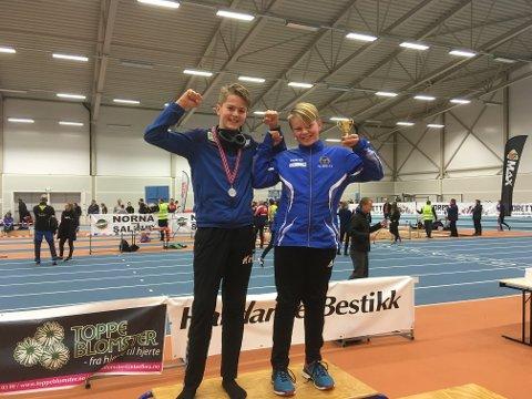 Sondre Langøy (t.v) tok 1. plass i kule.