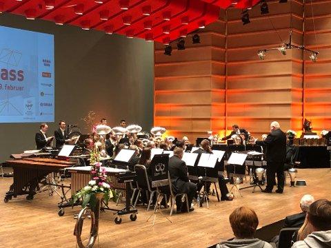 Eikanger-Bjørsvik musikklag under festkonserten på Brass-NM 2019.