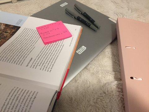 Sett deg spesifikke mål: Skriv ned spesifikke oppgåver du vil gjere eller ein spesifikk del av stoffet du vil forstå, og kryss ut etter kvart.
